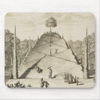 Artificial Mount Parnassus, engraved by Johannes V Mouse Mat
