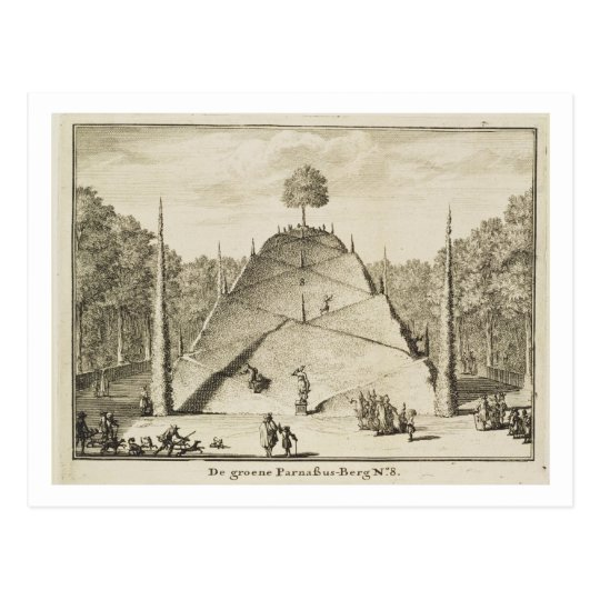 Artificial Mount Parnassus, engraved by Johannes V Postcard