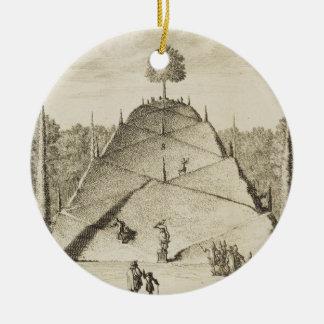 Artificial Mount Parnassus, engraved by Johannes V Round Ceramic Decoration
