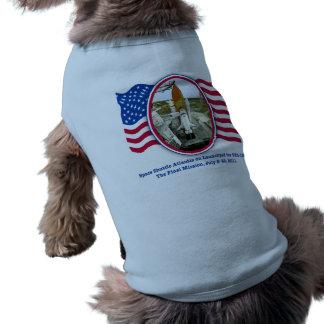 Artiistic Rendering of Space Shuttle Atlantis Sleeveless Dog Shirt