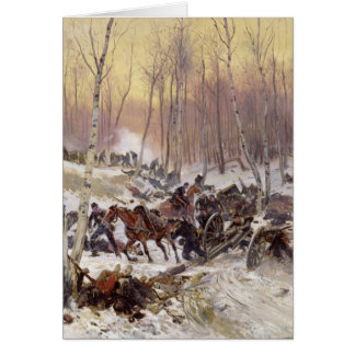 Artillery Combat in a Wood Card