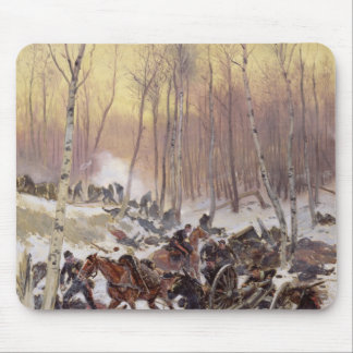 Artillery Combat in a Wood Mouse Mat