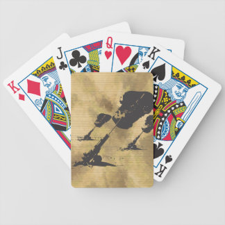 Artillery in Action Bicycle Playing Cards