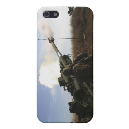 Artillerymen fire a 155mm round covers for iPhone 5