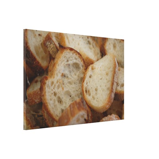 Artisan Bread Slices Gallery Wrapped Canvas