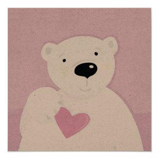 Artisan Kraft signature Teddy bear with Heart Card