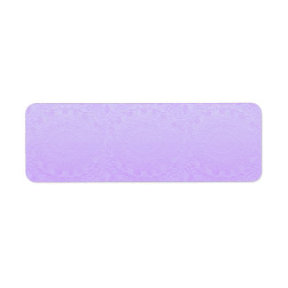 Artisan PURPLE Engraved Design Return Address Label