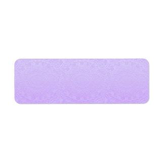 Artisan PURPLE Engraved Design Return Address Label