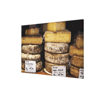 artisan regional french cheeses canvas print