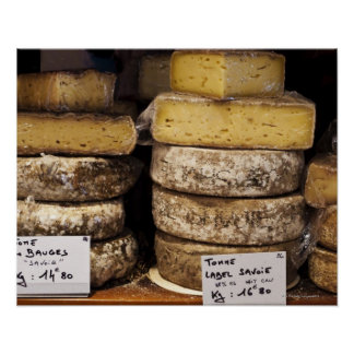 artisan regional french cheeses poster