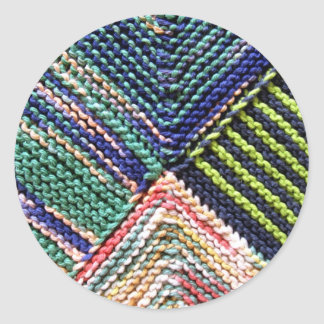 Artisanware Knit Classic Round Sticker