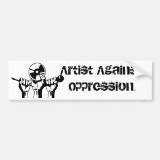 Artist Against Oppression Bumper Sticker