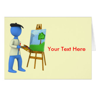 Artist and Easel Greeting Card