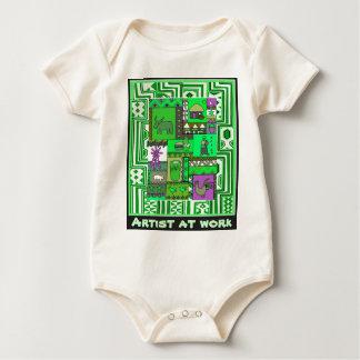 Artist at work - African Art Baby Bodysuit