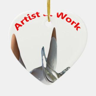Artist at Work Ceramic Heart Decoration