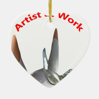 Artist at Work Christmas Ornament