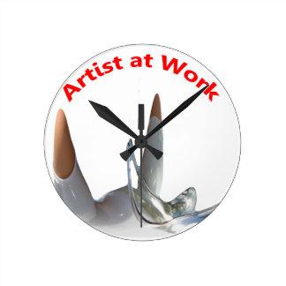 Artist at Work Round Clock