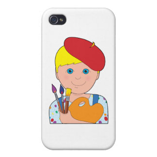 Artist Child Boy Cases For iPhone 4