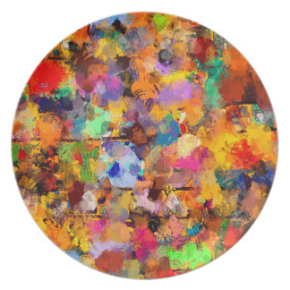 Artist Color Abstract Art Dab Plate