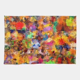 Artist Color Abstract Art Dab Tea Towel
