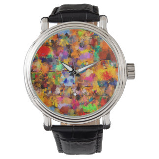 Artist Color Abstract Art Dab Wristwatch