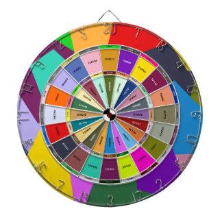 Artist Color Hex Picker Abstract Dart Board