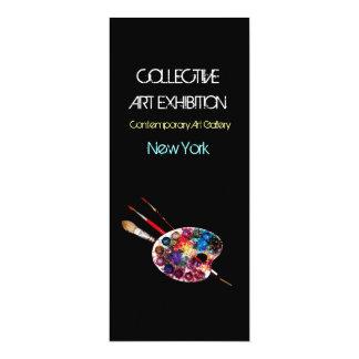 ARTIST COLOR PALETTE ART SHOW GALLERY EXHIBITION 10 CM X 24 CM INVITATION CARD