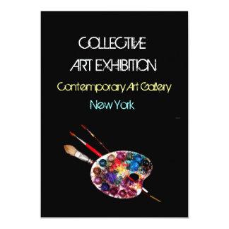 ARTIST COLOUR PALETTE ART SHOW GALLERY EXHIBITION 13 CM X 18 CM INVITATION CARD
