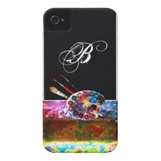 ARTIST COLOUR PALETTE MONOGRAM Black iPhone 4 Covers