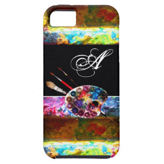 ARTIST COLOUR PALETTE MONOGRAM Black iPhone 5 Cover