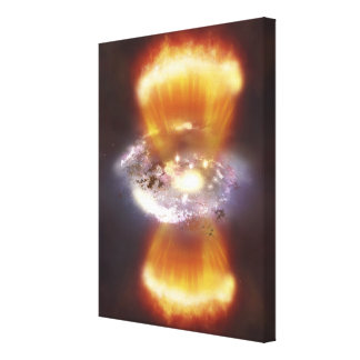 Artist concept of a galaxy canvas print