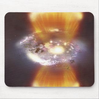 Artist concept of a galaxy mouse mat