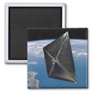 Artist concept of NanoSail-D in space Square Magnet