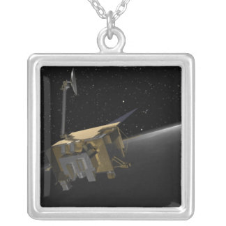 Artist Concept of the Lunar Reconnaissance Orbi 4 Silver Plated Necklace