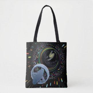 Artist concept Spacecraft Alcubierre Warp Drive Tote Bag