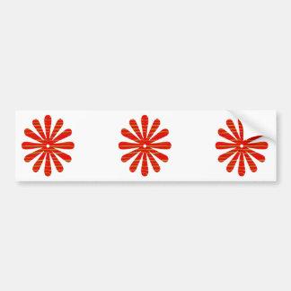 Artist created RED Shade GREEN Streak - SPARKLE Bumper Stickers