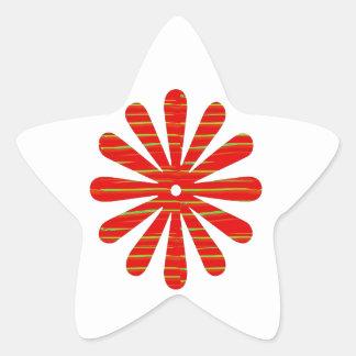 Artist created RED Shade GREEN Streak - SPARKLE Star Sticker