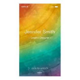 Artist / Designer - Simple Generic Flat UI Style Pack Of Standard Business Cards
