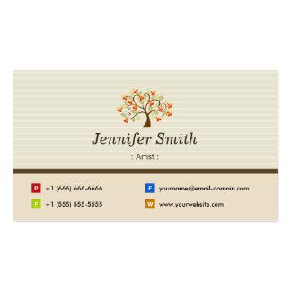 Artist - Elegant Tree Symbol Pack Of Standard Business Cards