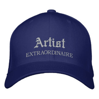 Artist Extraordinaire Embroidered Hat