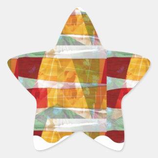 ARTIST fashion FABRIC Collage Pattern:  LOWPRICE Star Sticker