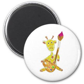 Artist Giraffe Magnets