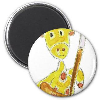 Artist Giraffe Fridge Magnets