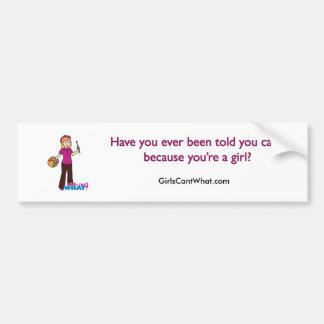 Artist-Girl 1 Car Bumper Sticker