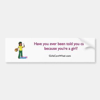 Artist-girl 3 car bumper sticker