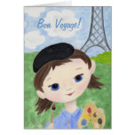 Artist Girl bon voyage card