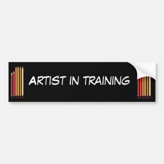 Artist in training bumper sticker