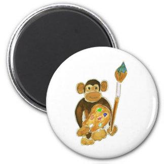 Artist Monkey Fridge Magnets