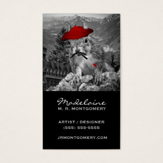 Artist or Art Teacher Funny Squirrel Painter Business Card