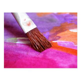 Artist Paint Brush Post Cards